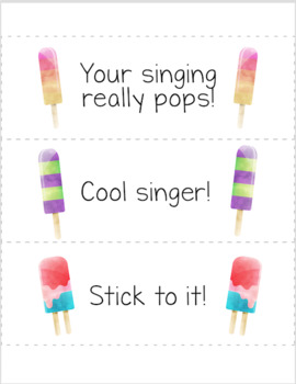 Popsicle Decor Theme - incentive awards