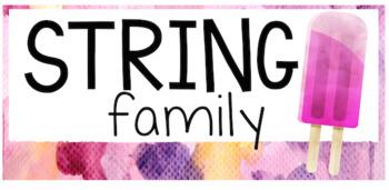 Popsicle Decor Theme - instrument family labels