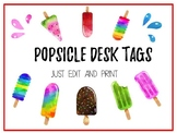 Popsicle Desk Tags (White Background)