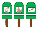 Popsicle Digraph - sh, th, ch