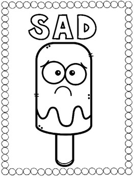 Popsicle Emotions - 7 Feelings Coloring Pages
