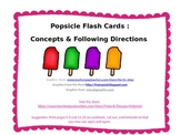 Popsicle Flash Cards: Concepts & Following Directions