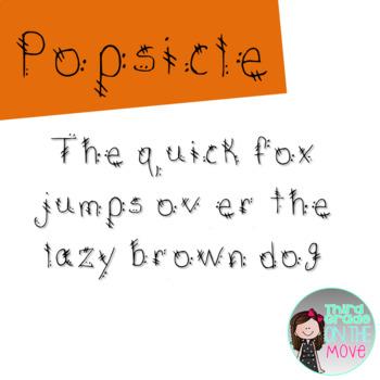 Popsicle Font