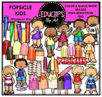 Popsicle Kids Clip Art Bundle {Educlips Clipart}