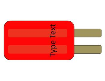 Popsicle Labels for your Classroom and Home