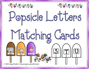 Popsicle Letters Matching Cards (Common Core)