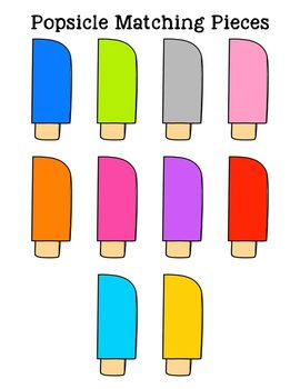 Popsicle Matching Folder Game for Early Childhood Special Education