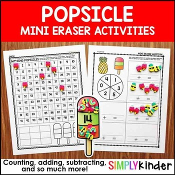 Popsicle Mini Eraser Activities