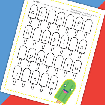 Popsicle Missing Alphabet Worksheet