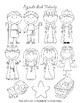 Popsicle Nativity Puppets and Coloring Page