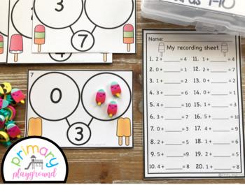 Popsicle Number Bond Task Cards 1-10 Center