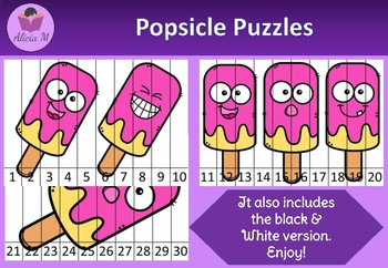 Popsicle Number Puzzles Printable