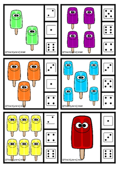Popsicle Numer Clip Game - Teach Learn Create