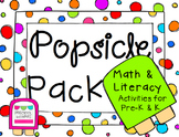 Popsicle Pack Math and Literacy Activities for Preschool, Pre-K & K