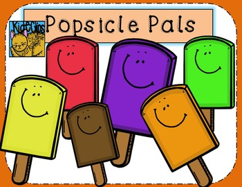 Popsicle Pals Summer Clip Art Personal and Commercial Use by Kid-E-Clips