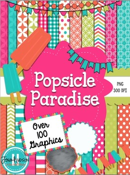 Popsicle Paradise~ Digital papers, accents, and clipart