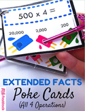 Extended Facts Poke Cards - CCSS 4.NBT.A.1