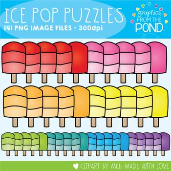 Popsicle Puzzle Clipart Set