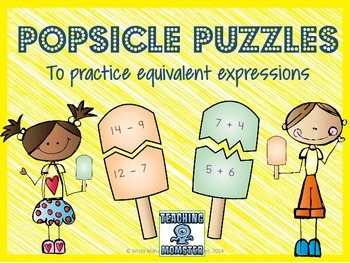 Popsicle Puzzles--Addition and Subtraction Equivalent Expressions