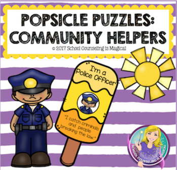Popsicle Puzzles: Community Helpers