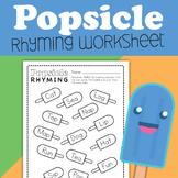 Popsicle Ryhming Worksheet