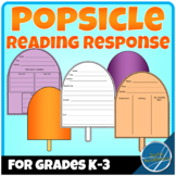 Popsicle Shaped Reading Response Sheets for Any Book