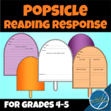 Popsicle Shaped Reading Response for Any Book Grades 4 and 5