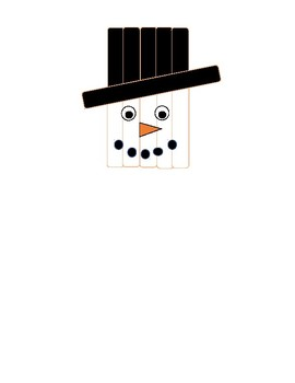Popsicle Stick Snowman craft with visuals