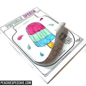 Popsicle Speech and Language Flip Flap Crafts