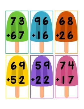 Popsicle Stick 2-Digit Math