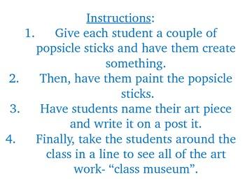 Popsicle Stick Art