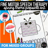 Spring Speech Therapy: Popsicle Stick Fine Motor Art for All Sounds