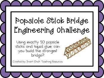 Popsicle Stick Bridge: Engineering Challenge Project ~ Gre