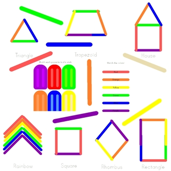 Popsicle Stick Clip-art and Worksheets