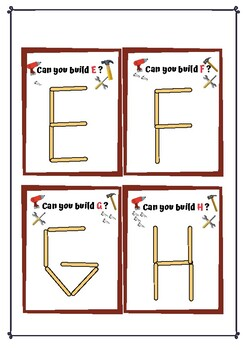 Popsicle Stick English Alphabets (Upper Case) Flash Cards