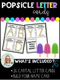 Popsicle Stick Letter Cards