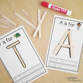 Popsicle Stick Letters! Alphabet Literacy Center for Kindergarten