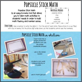 Popsicle Stick Math