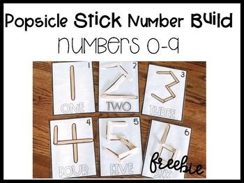 Popsicle Stick Number Build: Freebie
