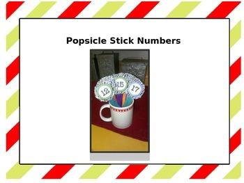 Popsicle Stick Numbers~Zebra
