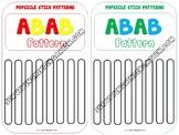 Popsicle Stick Patterns