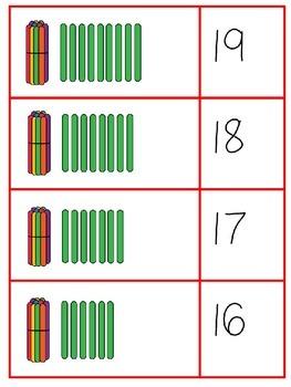 Popsicle Stick Place Value Numeral Match