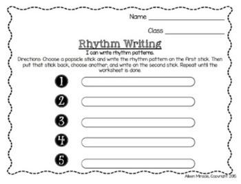 Popsicle Stick Rhythm Games