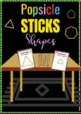 Popsicle Stick Shapes Flash Cards
