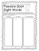 Popsicle Stick Sight Words