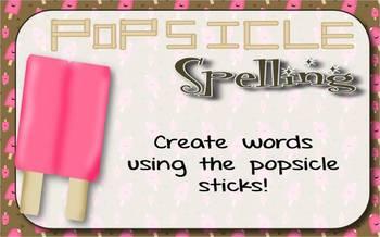 Popsicle Stick Spelling