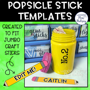 Popsicle Stick Templates (editable)