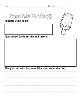 Popsicle Stick Writing Center