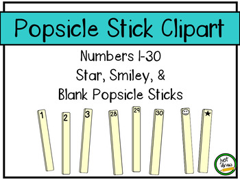 Popsicle Sticks Counting Sticks - for Personal and Commercial Use