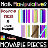 Popsicle Sticks ❤️ Digital Movable Clip Art ❤️